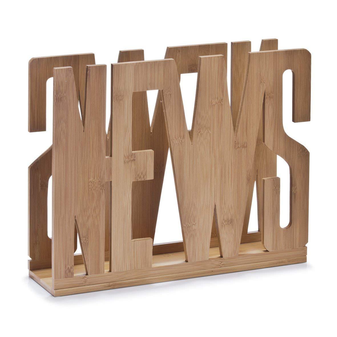 Zeller 13577 Portariviste 'News' in bambù , 42 x 11 x 33 cm