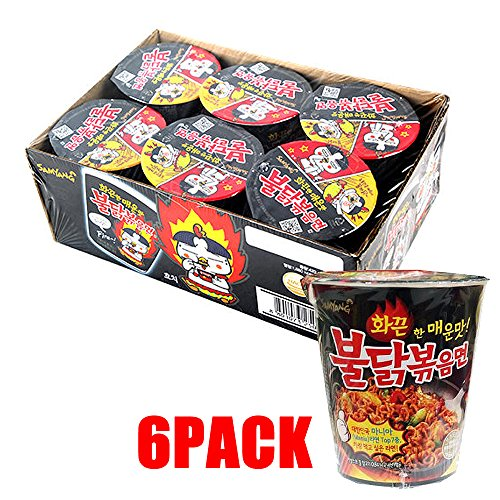 Price comparison product image Korean Samyang HOT SPICY Noodle Fire Chicken Mini Cup Challenge Ramen!! - 6PACK