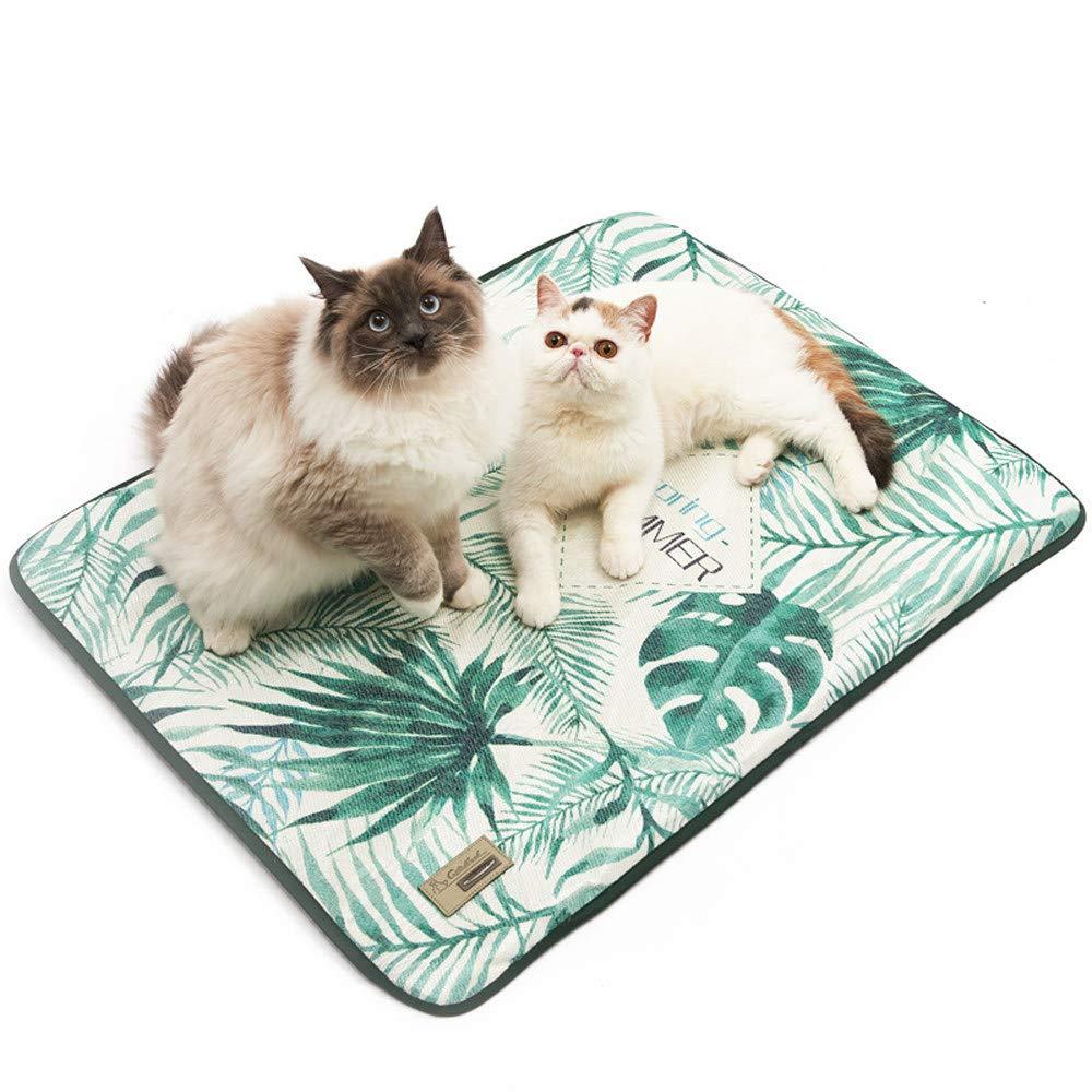 L 3D Pet Pad Summer Cooling Mat,Ice Silk Summer Sleeping Mattress Nest, Dog Summer Cat with Mat Ice Pad,Cushion for Pet Small Large Dog,L