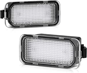 VIPMOTOZ Full LED License Plate Light Tag Lamp Assembly Replacement Pair For Ford Edge Ranger C-Max Transit Connect 150 250 350HD - 6000K Diamond White, 2-Piece Set