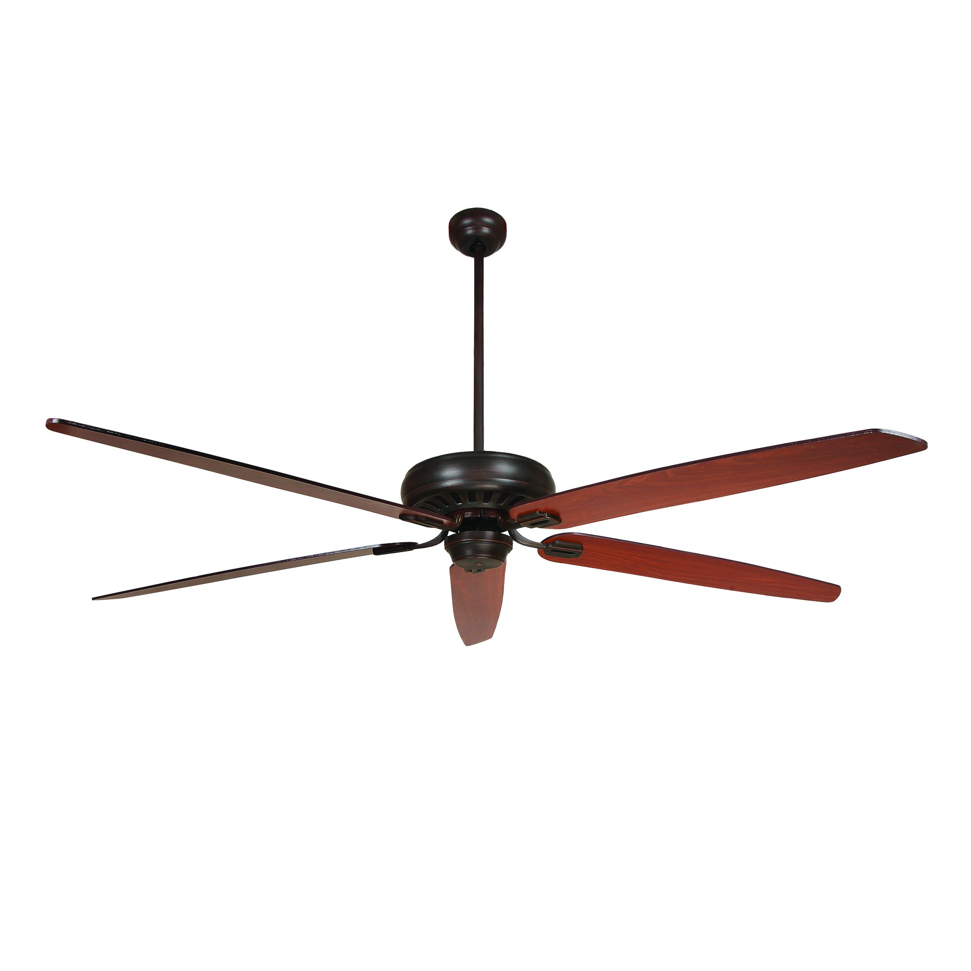 Yosemite Home Decor PARKHILL-ORB-NLK 70-Inch Ceiling Fan in Oil Rubbed Bronze Finish with remote control included and no Light kit, Oil Rubbed Bronze