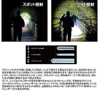 LED LENSER H7R.2 Rechargable LED Headlamp, Black/Red [Brightness 300 lumens / lit 60 hours] OPT-7298 [Japan genuine] by Bisley