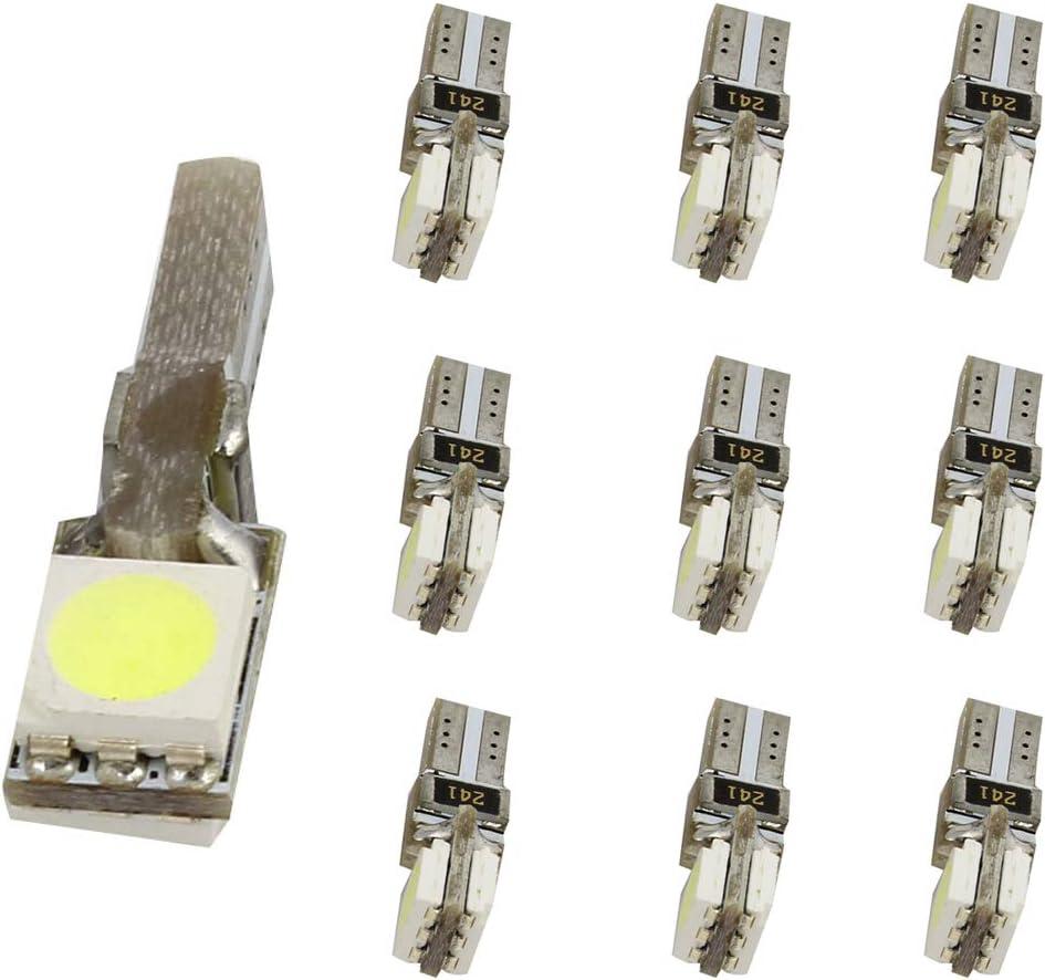 Weixuan 10PCS LED auto Canbus strumento Board Light T5/cuneo 2/LED 5050/SMD per auto cruscotto strumento pannello