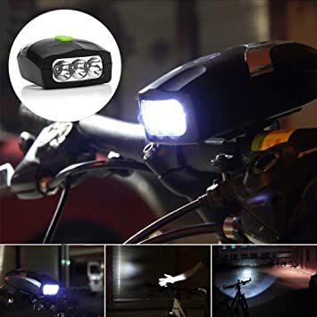de67de2f686 3 Led Bike Bicycle Front Headlight Cycling Lamp and Electronic Bell Horn  Hooter Online at Low Prices in India - Amazon.in