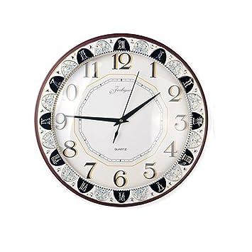 Moderno dormitorio madera pared del salón reloj relojes reloj de escritorio originales superiores de reloj de bolsillo: Amazon.es: Hogar