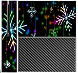 Neon Snowflakes Snowflake Xbox One Console Vinyl Decal Sticker Skin by Moonlight Printing