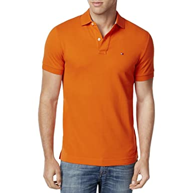 11fac63a6 Image Unavailable. Image not available for. Color: Tommy Hilfiger Mens  Custom Fit Mesh Polo ...
