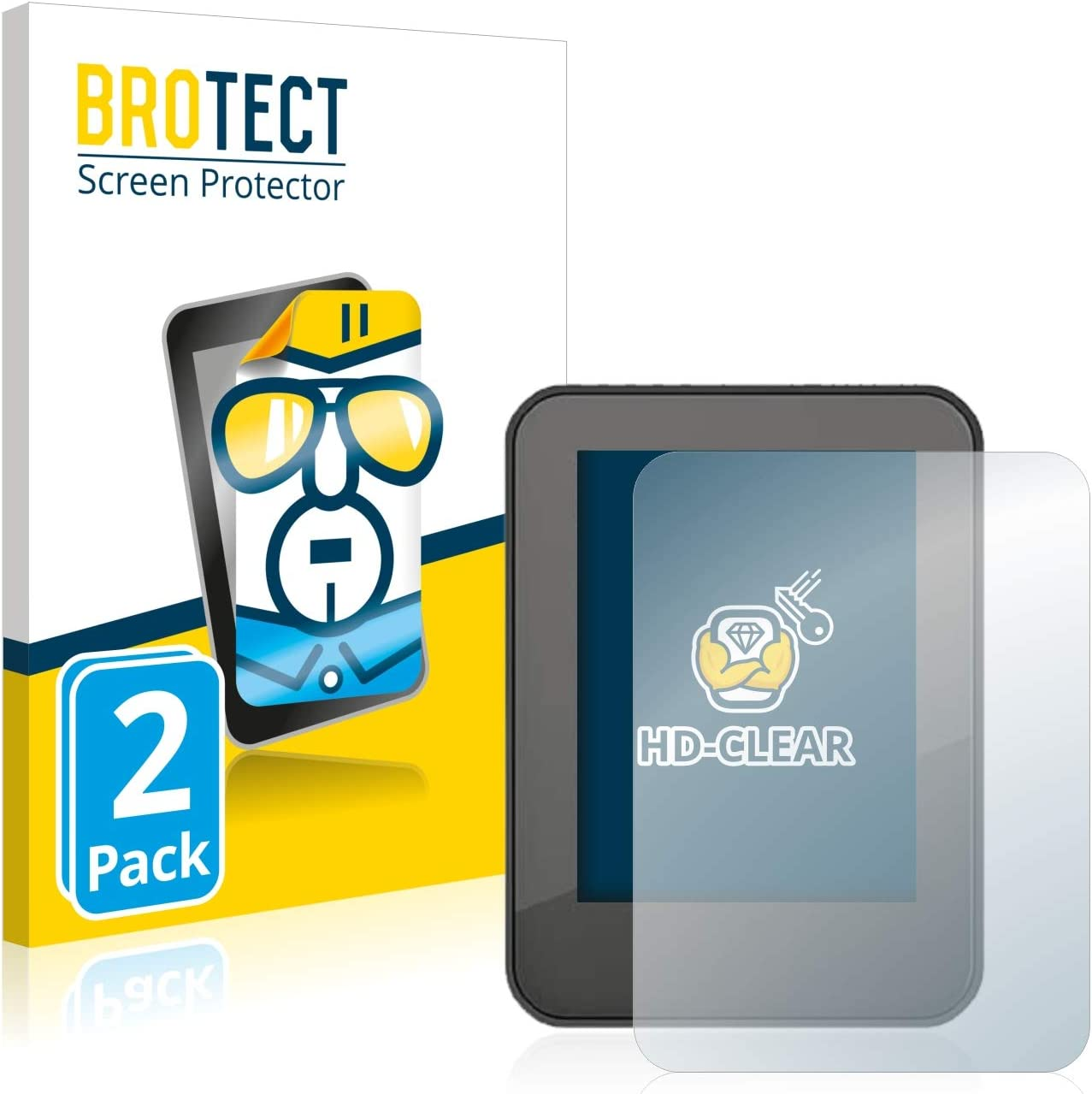 Crystal-Clear Dirt-Repellent 2X HD-Clear Screen Protector for Neodrives neoMMI Z20 BROTECT Hard-Coated