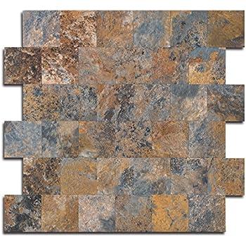 Amazon Com Yipscazo Peel And Stick Tile Backsplash Pvc