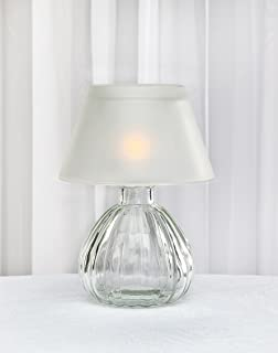 Studio Silversmiths Frost Glass Lamp With Shade