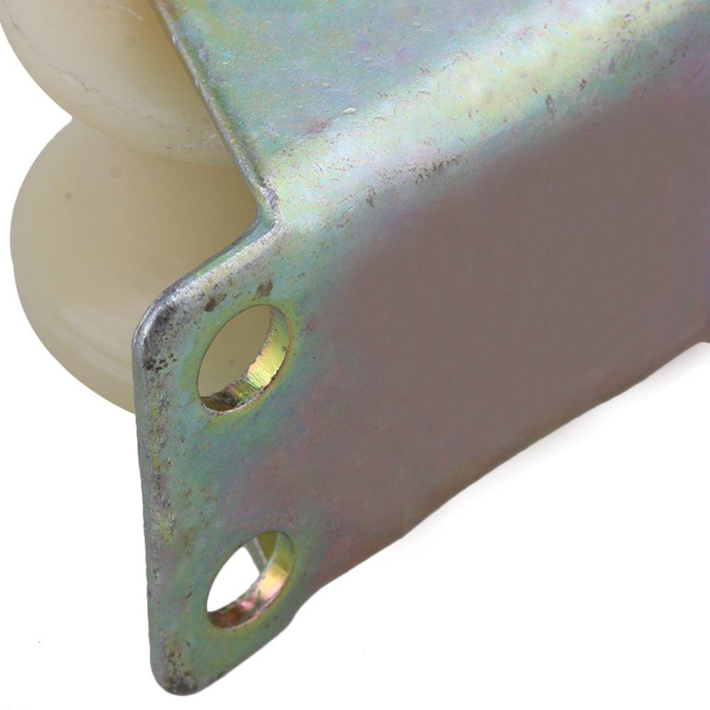 31mm Durchmesser Beige 45# Stahl Nylon U Nuss Laufrolle Starre Kastenrad f/ür Industrielle Maschinen Wagen 100 KG