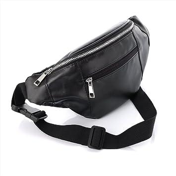 Allsorts® Black Faux Leather Bum Bag / Fanny Pack - Festivals /Club Wear/ Holiday Wear: Amazon.es: Belleza