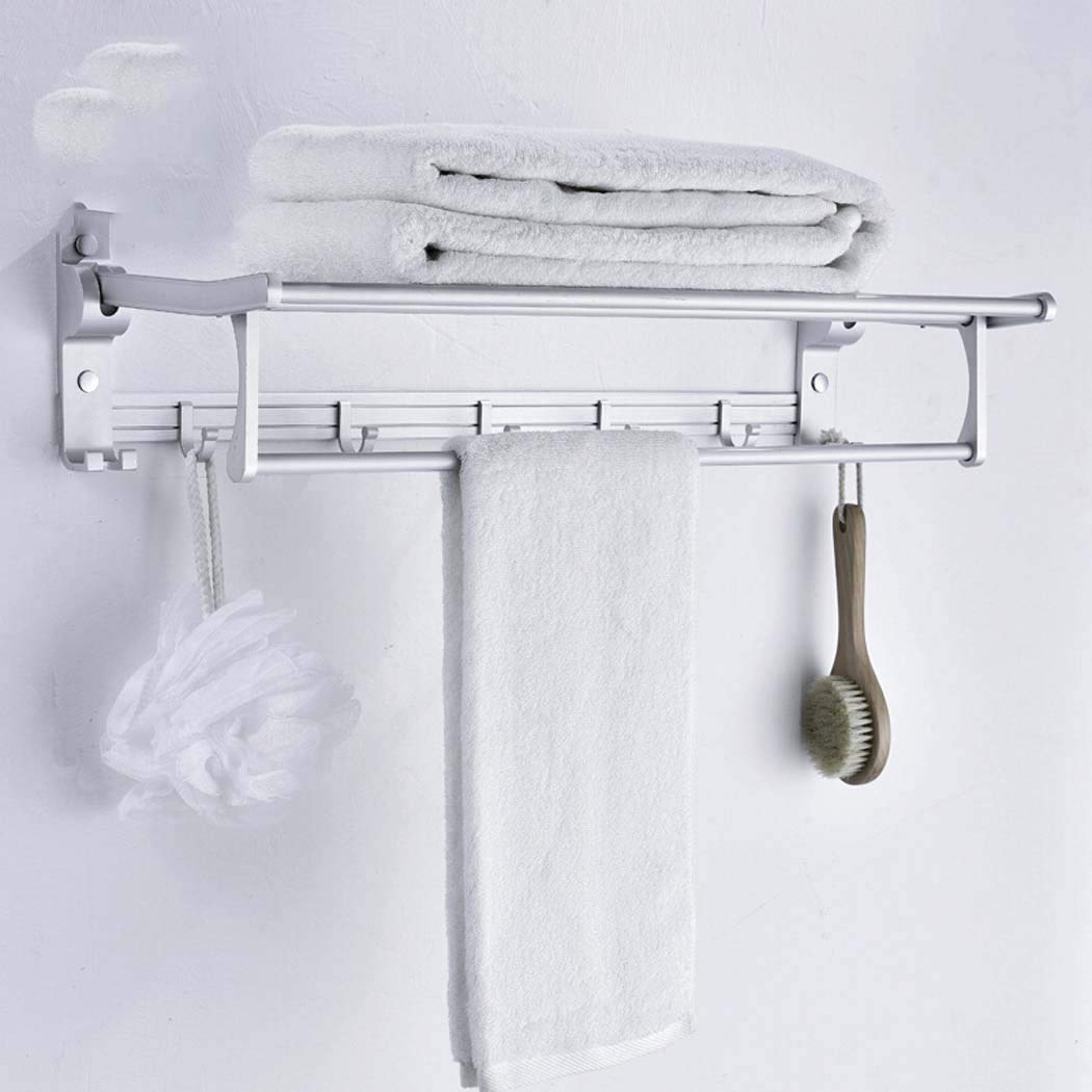 Modern Fashion Towel Rack Insert Wall Anodized for Hotel Bathroom Clothing Store (White), 40 * 13Cm WSHZ