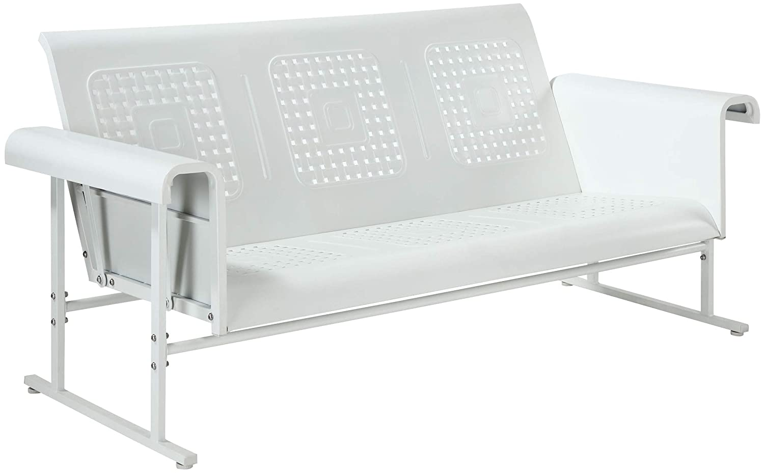 Crosley Furniture CO1028-WH Veranda Sofa Glider, Alabaster White
