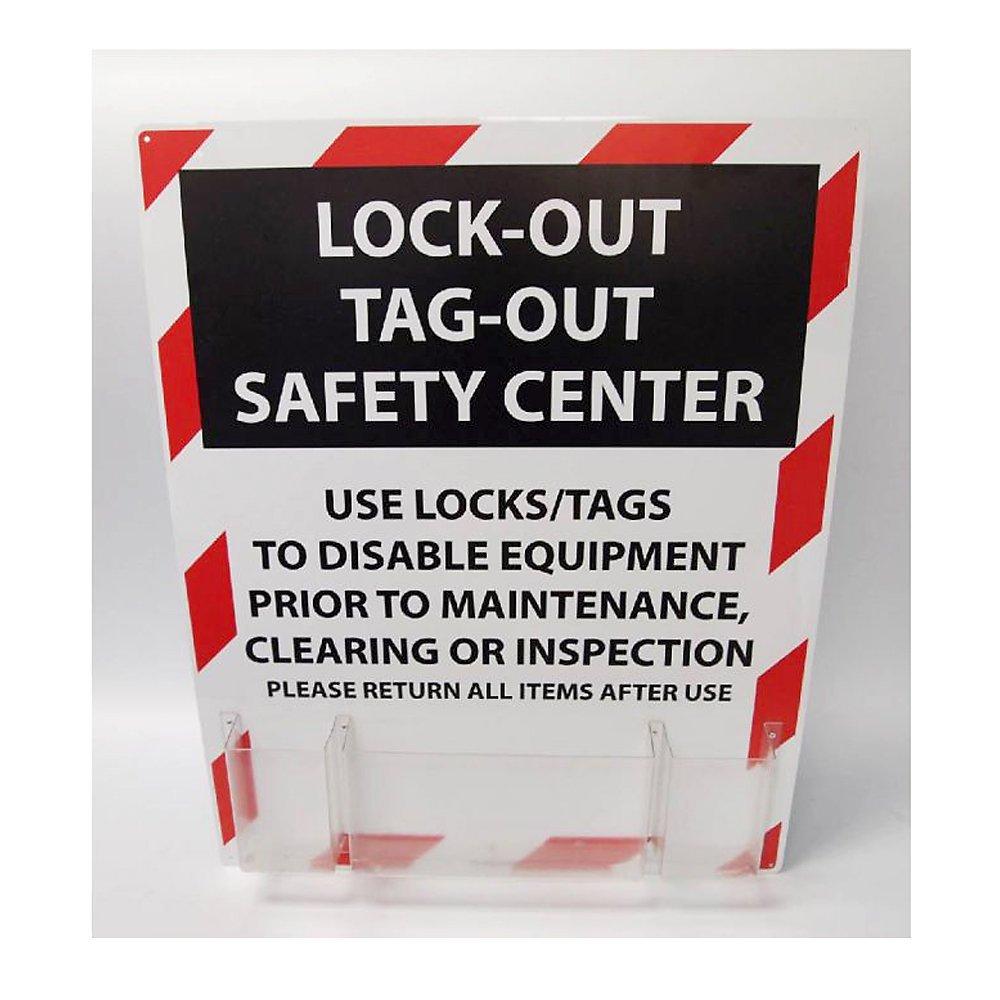 24 Length x 30 Height NMC LOTO Polystyrene Lockout Center