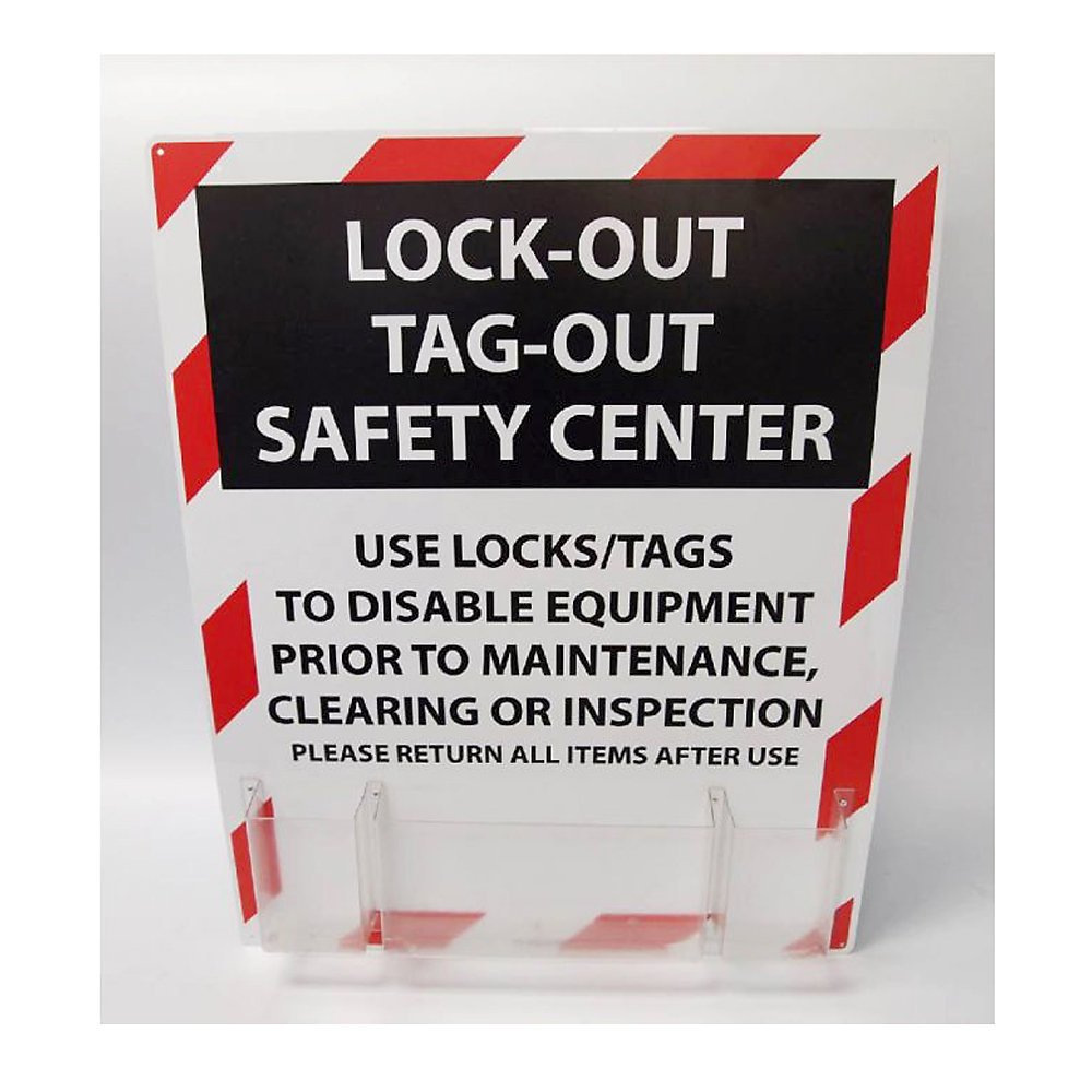 NMC LOTO Polystyrene Lockout Center, 24'' Length x 30'' Height