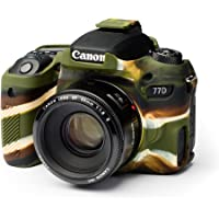 EasyCover Silicone Protective Case For Canon 77D Camera, Camouflage