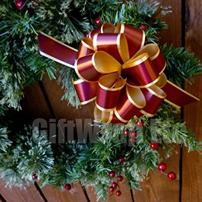 """Christmas Gift Wrap Pull Bows - 5"""" Wide, Set of 6"""
