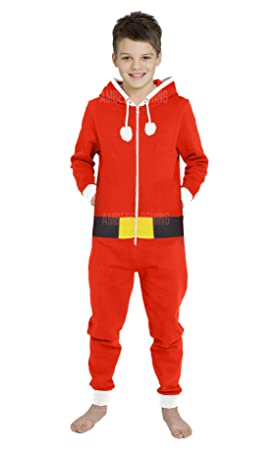 1a6bd74ebda Image Unavailable. Image not available for. Colour  Novelty Unisex Mens  Ladies Elf Santa All in One XMAS Christmas Onesie Costume Jumpsuit ...