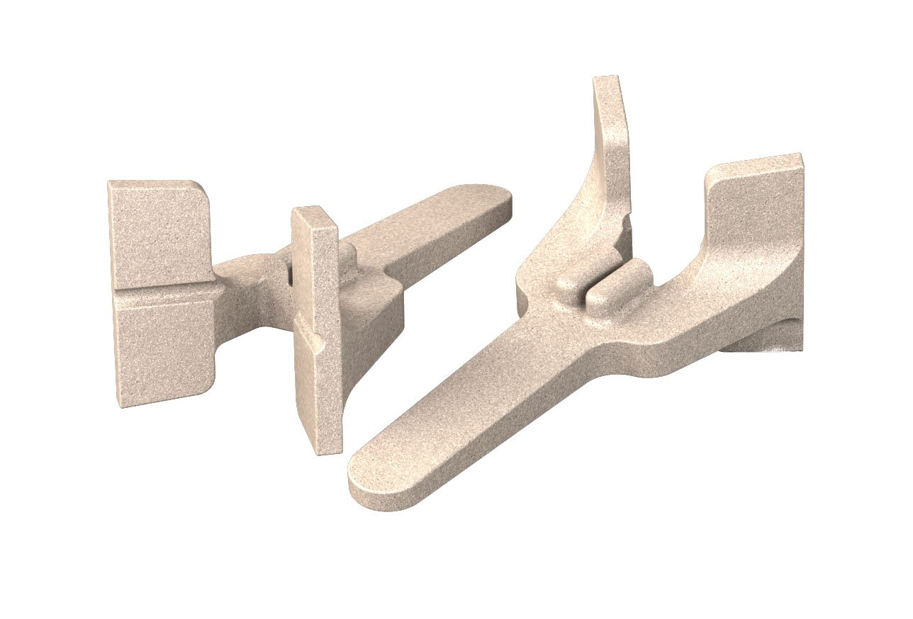 Bon 11-289 Cast Aluminum Bricklayer's Corner Blocks, Sold in Pairs