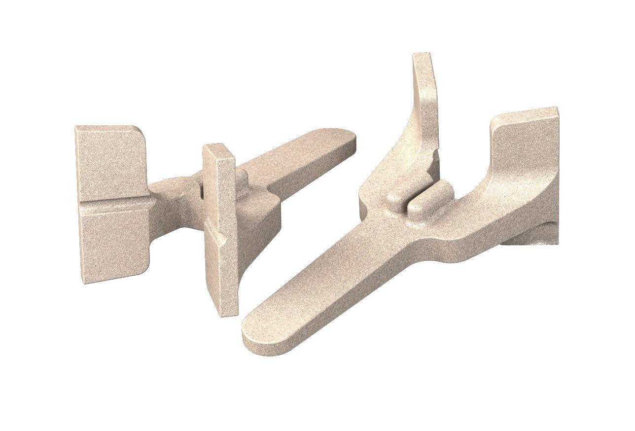 Bon 11-289 Cast Aluminum Bricklayer's Corner Blocks, Sold in Pairs