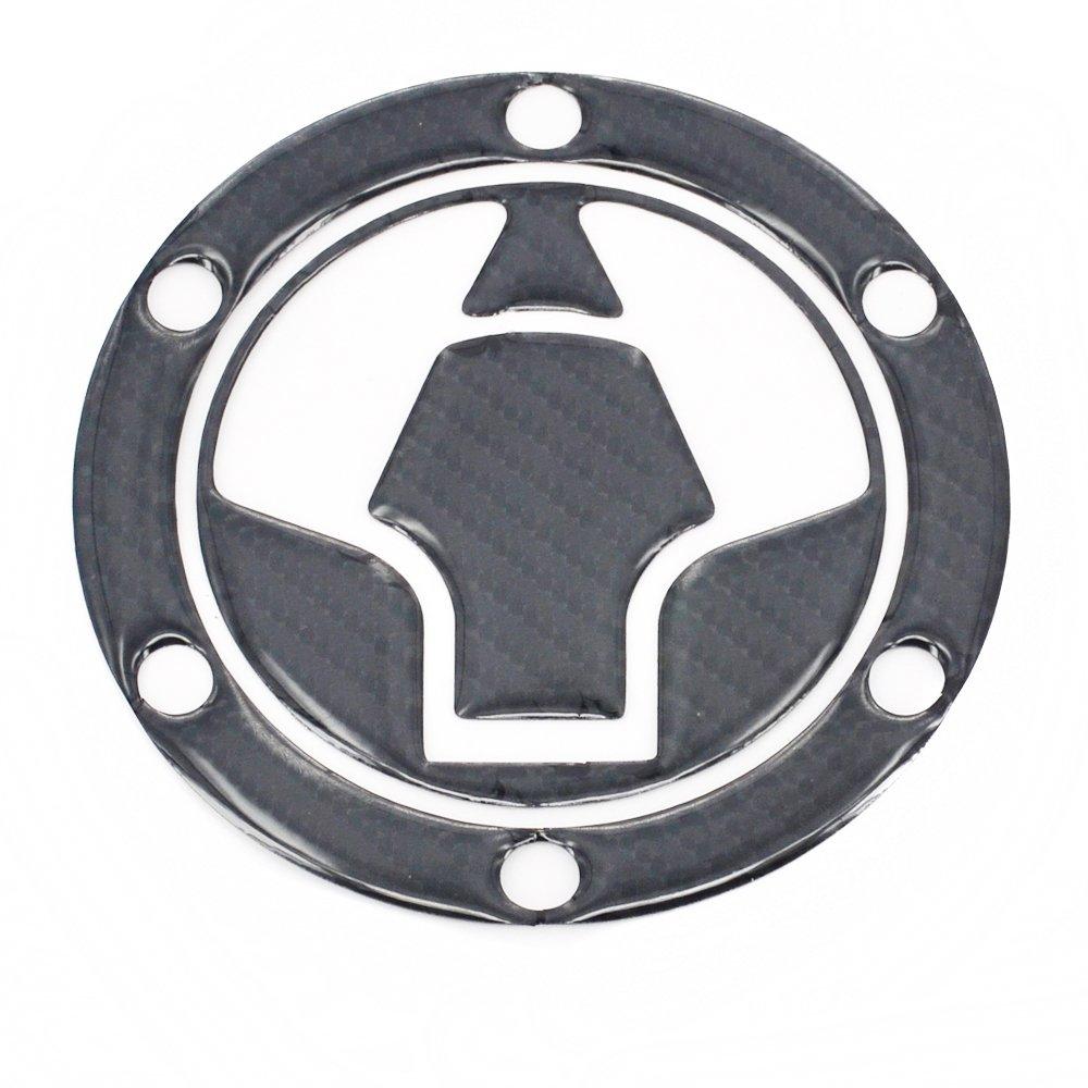 Fast Pro Vera Fibra di Carbonio Gas cap Cover Pad Serbatoio Carburante Adesivo Decalcomania per Kawasaki Ninja 250R EX250/EX300/300