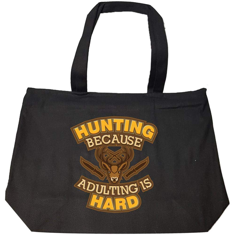 f88c7151608a12 Amazon.com: Funny Hunting Statement Novelty Gift For Hunters - Fashion Zip  Tote Bag: Clothing