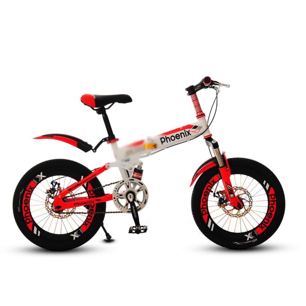 子ども用自転車 学生自転車男の子女の子自転車シングルスピード自転車子供自転車ベビーカー折りたたみ自転車高炭素鋼フレーム、18インチ (Color : 白, Size : 18inches) 18inches 白 B07MT4GJ3L