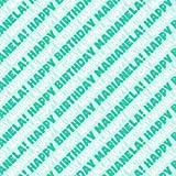 Marianela Happy Birthday Premium Gift Wrap Wrapping Paper Roll - Teal