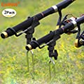 coolnice Rod Holders for Bank Fishing - 2 Pack from coolnice