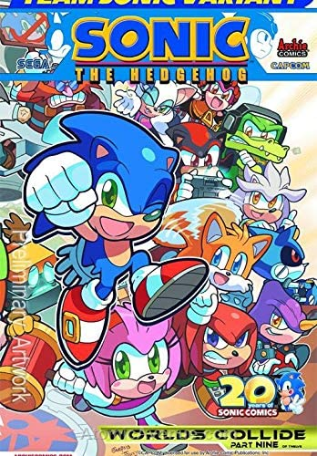 Amazon Com Sonic The Hedgehog 250a Vf Archie Comic Book Entertainment Collectibles