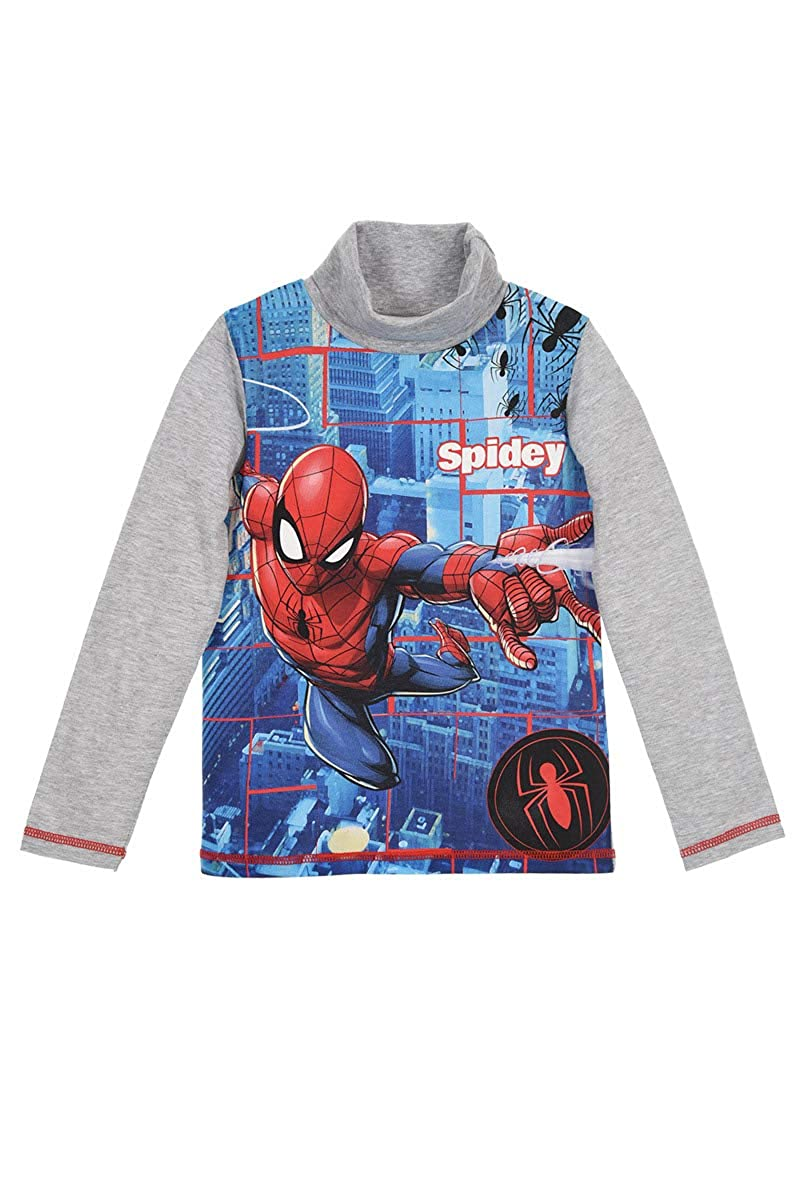 Large Characters Picture 100/% Cotton Single or 3-Pack Marvel Spiderman Boys T-Shirt Short Sleeve Tops 2-8 Years