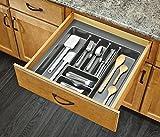 Rev-A-Shelf GCT-4S-52-Extra Large Cutlery Tray Drawer Insert, Metallic Silver