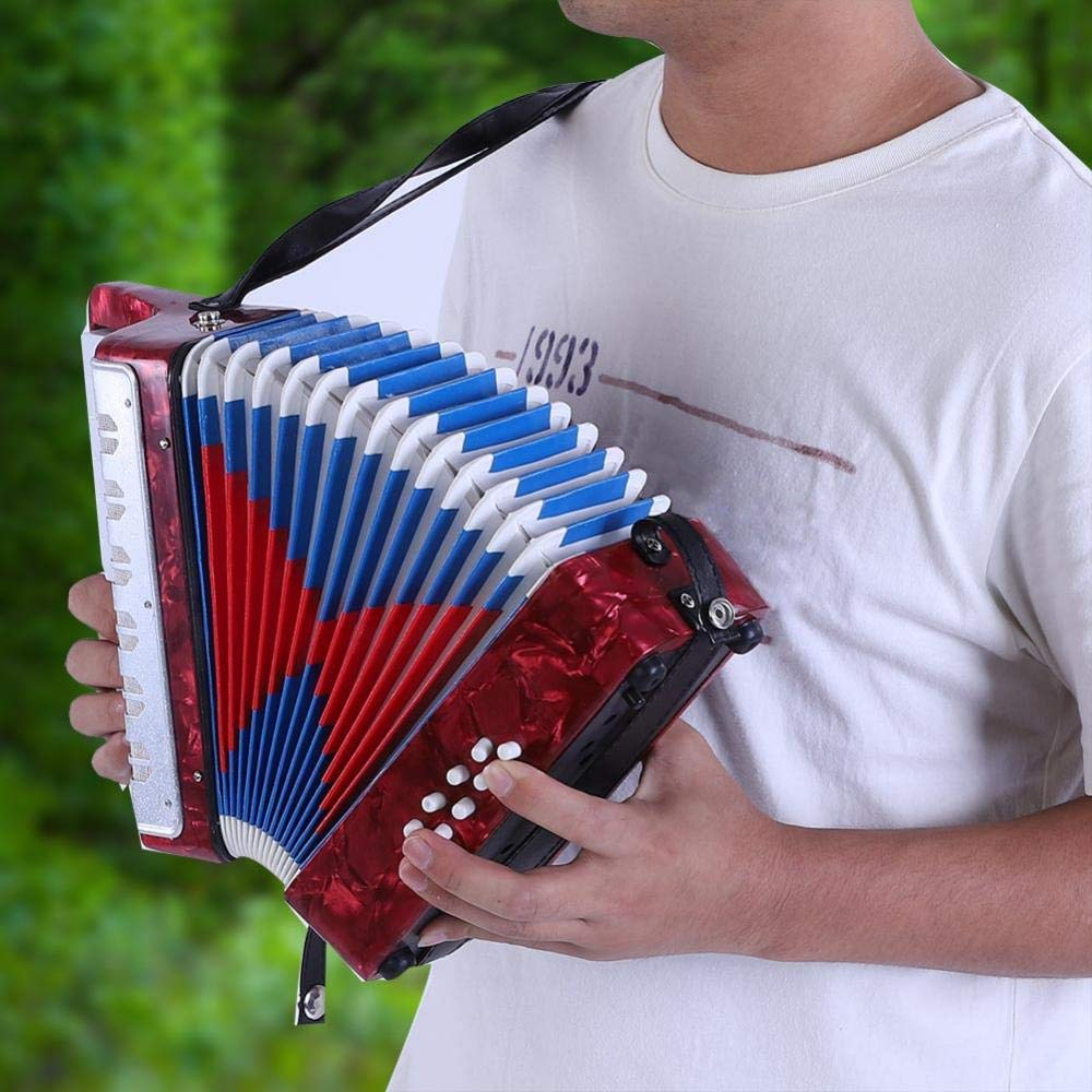 Children Accordion Music Toy 17 Key 8 Bass Accordion Educational Toys Music Instruments for Beginners Students 4 Colors (Red) by Tbest (Image #3)