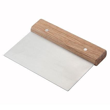 Winware Stainless Steel Dough Scraper with Wood Handle