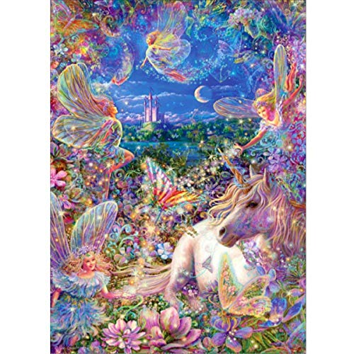 AIRDEA DIY 5D Diamond Painting Kit, Full Diamond Butterfly Fairy Embroidery Rhinestone Cross Stitch Arts Craft Supply for Home Wall Decor 11.8x15.8 inch ()