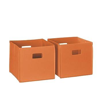 Charmant RiverRidge 02 013 2 Piece Folding Storage Bin, Orange