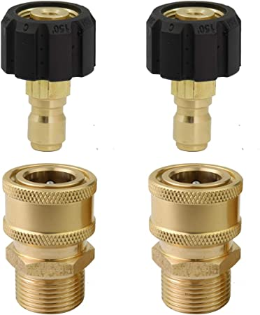 """Pressure Washer Swivel Brass Hose Coupling 3//8/"""" F To 3//8/"""" M Adapter Connector"""