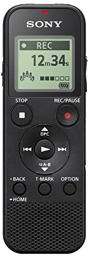Sony ICD-PX370 Mono Digital Voice Recorder with Built-In USB, 4 GB Memory, SD Memory Slot, 55 Hours Recording