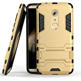Axon 7 Case, ZTE Axon 7 Case, MicroP(TM) Dual Layer Armor Hard Slim Hybrid Kickstand Phone Cover Case for ZTE Axon 7 (Golden Kickstand Case)