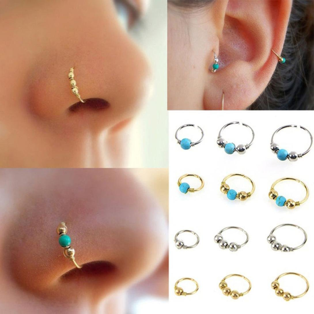 Becoler Nose Ring Small Stainless Steel Earrings