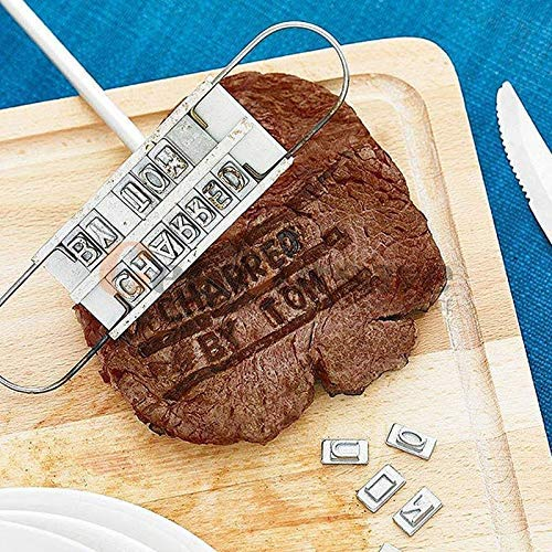Nattel Tool Fire - Barbecue Stamp Stamping Mold With Fire Brand Nameplate 55 English Letters Restaurant Party - Dolls And Fighter