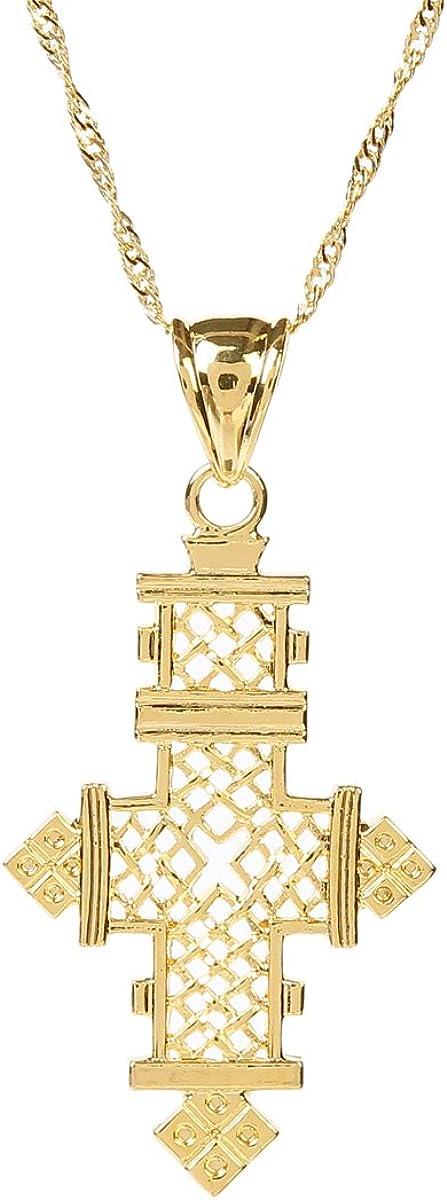 African Pendant Authentic Ethiopian Pendant PND-ETH-115 Ethiopian Cast Metal Cross Pendant Made in Ethiopia + Silver Cross Pendant