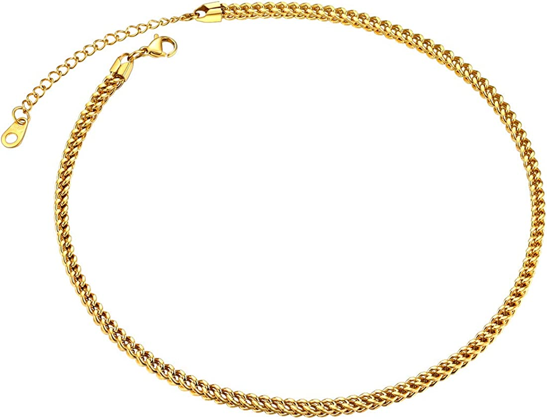"""MEN Stainless Steel 4.5mm//6mm Gold Franco Box Cuban Curb Chain Necklace*24/""""30/""""36"""