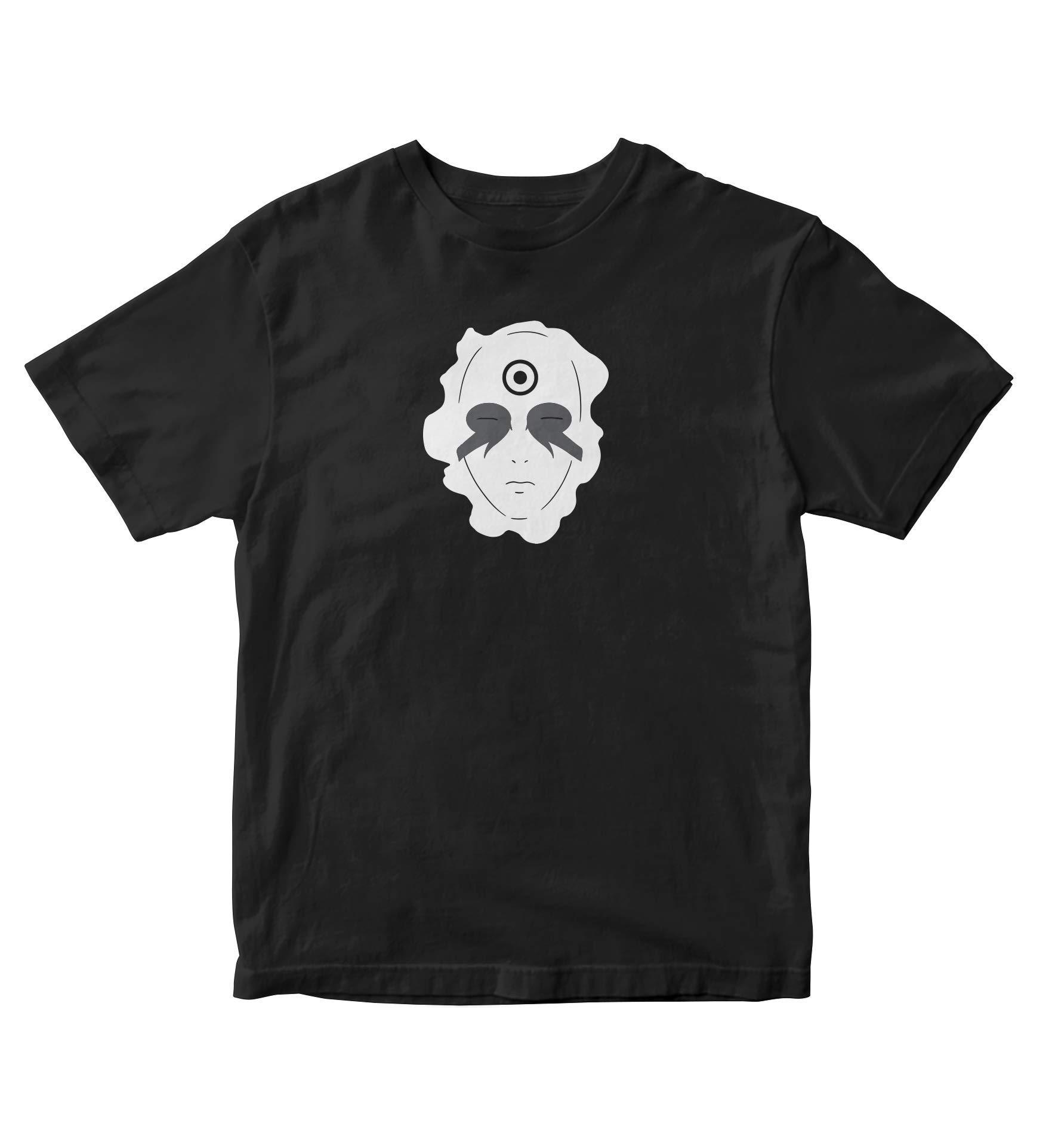 Tjsports Madara Uchiha Shirt Chest Face Naruto Anime Manga Man S Black A822