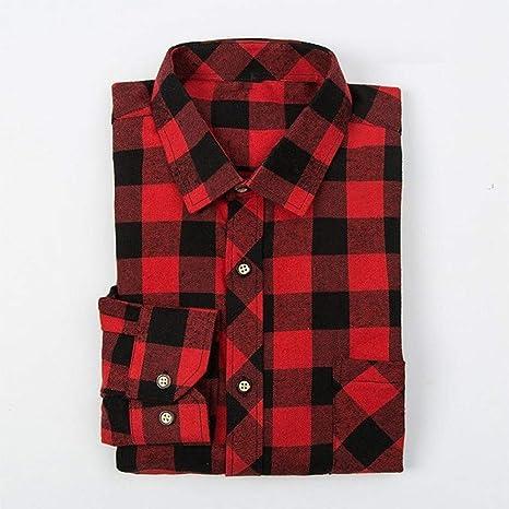 YAYLMKNA Camisa Camisa De Tela Escocesa para Hombre Camisa De Hombre Slim Fit Soft Spring Hombre Camisas De Manga Larga De Negocios Talla Grande, XXL: Amazon.es: Deportes y aire libre