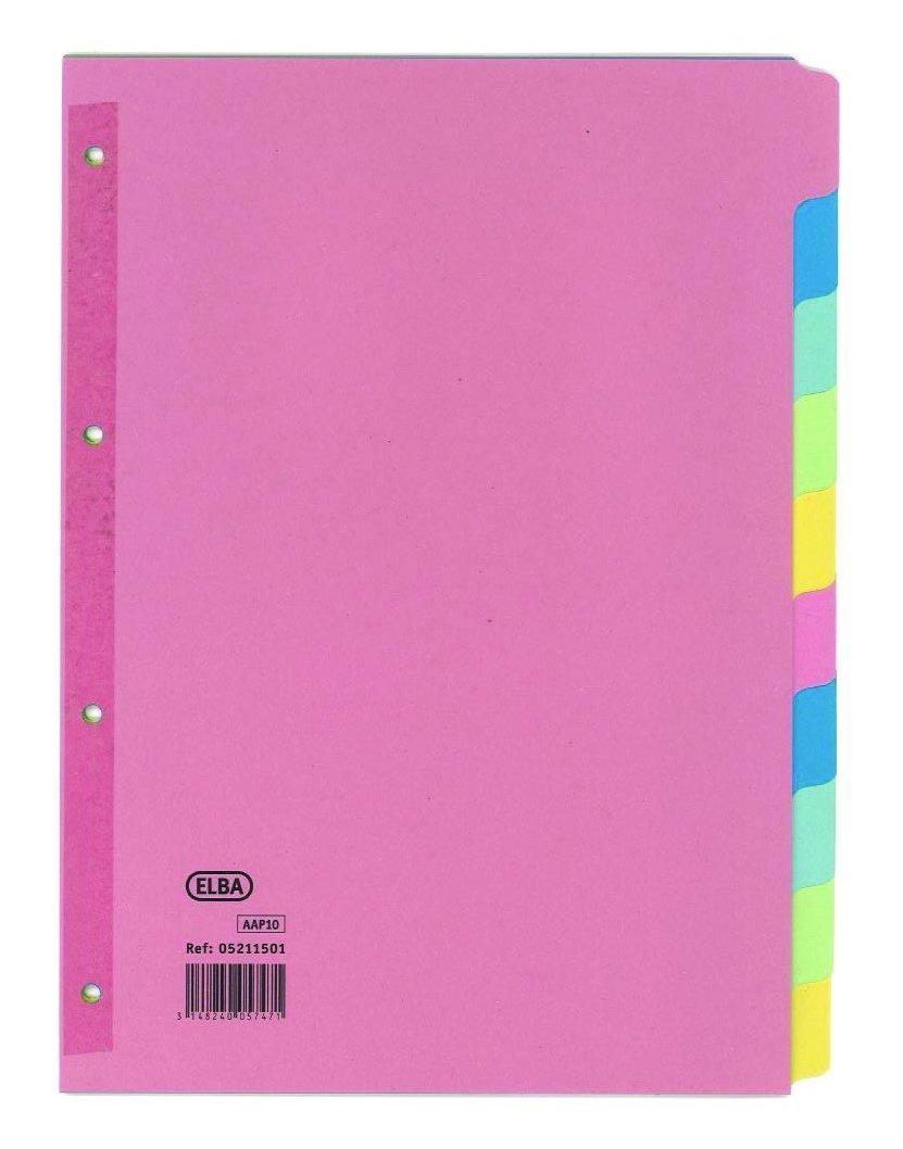 Elba A410Part divisore in carta con dorso rinforzato (confezione da 25) Hamelin Brands 100080782