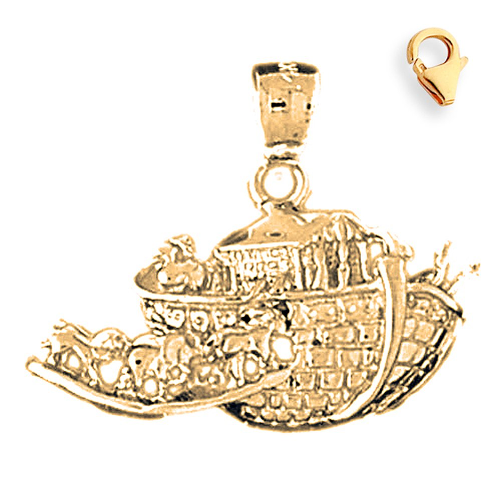 Silver Yellow Plated Noahs Ark Charm 21mm
