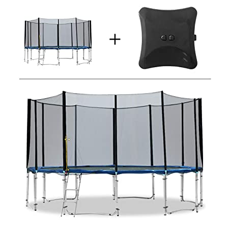 Exacme 8-16 FT Round Trampoline High Weight Limit with Enclosure and Jumping Detector Bluetooth Wireless App