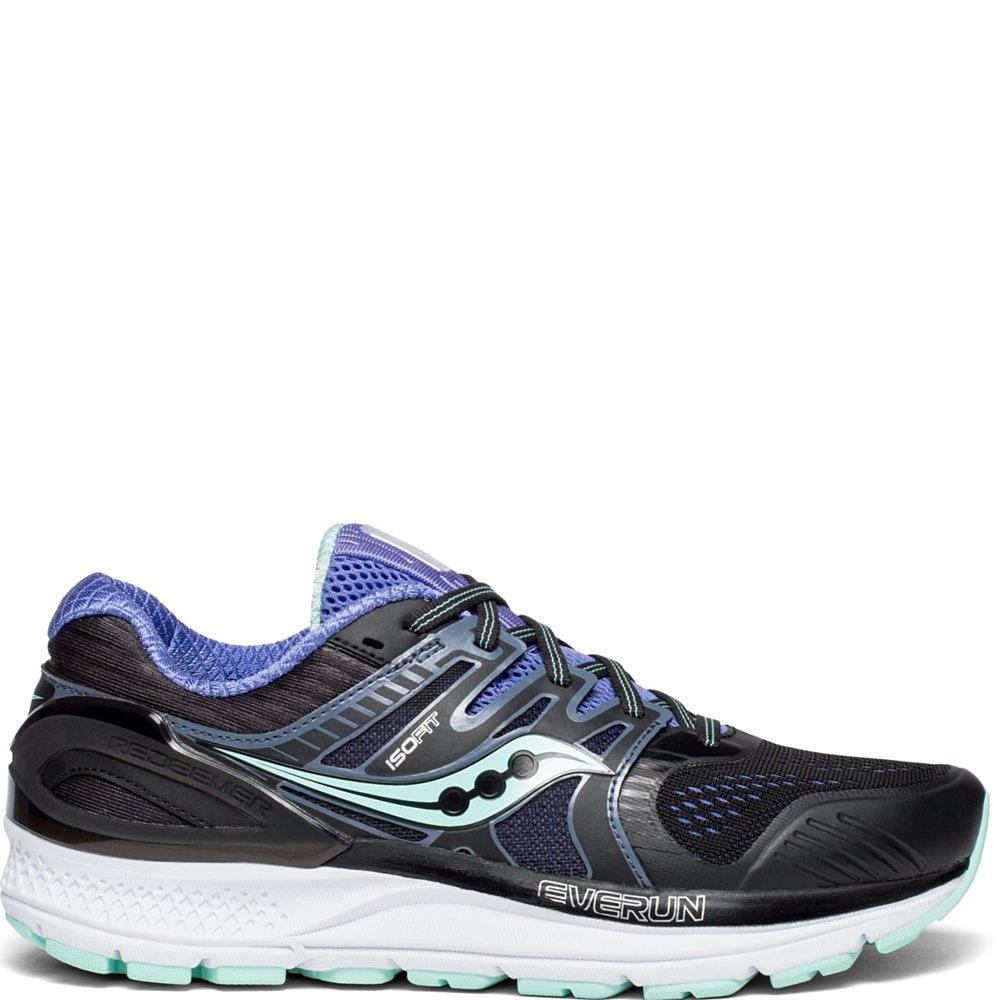 Saucony Women's Redeemer Iso 2 Running Shoe B078PP725Y 7 B(M) US|Black | Aqua | Violet